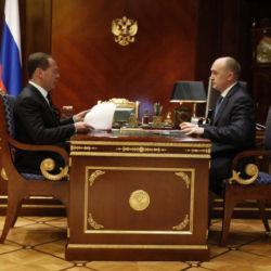 Международные форумы – тема встречи губернатора Дубровского  и премьера Медведева