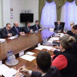 Он-лайн трансляция совещания губернатора с главами