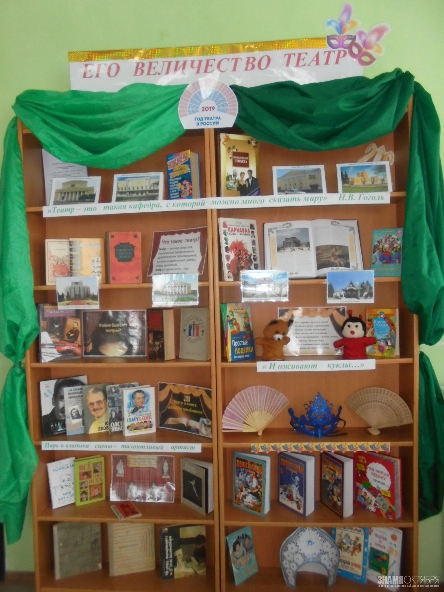 Книжная выставка «Его величество театр»