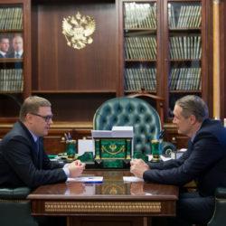 Алексей Текслер провел рабочую встречу с Виталием Лопиным