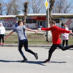 Районная легкоатлетическая эстафета, посвященная Дню Победы.
