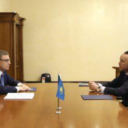 Сегодня губернатор Челябинской области Алексей Текслер с однодневным визитом посетил Республику Казахстан