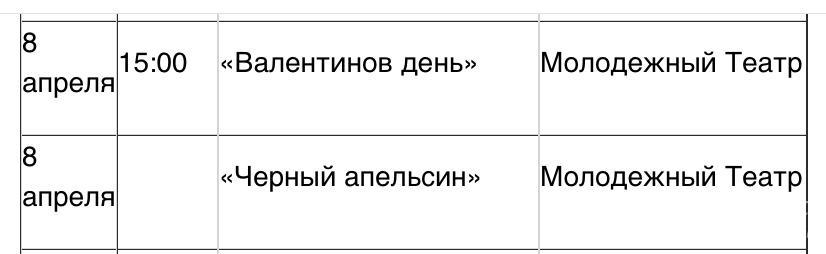 Онлайн-театр 8 апреля 2020 г