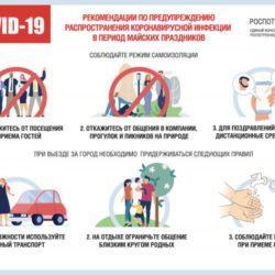Роспотребнадзор рекомендует россиянам строго соблюдать режим самоизоляции в период майских праздников