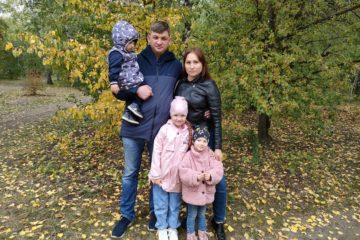 Многодетная семья Лебедевых из города Пласта приняла участие в голосовании